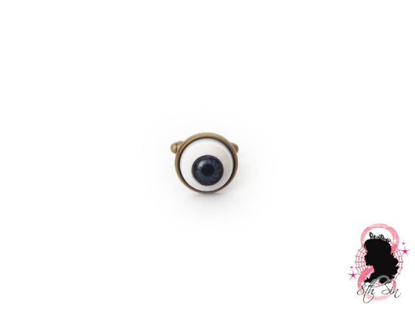 Antique Bronze Eyeball Cuff Links